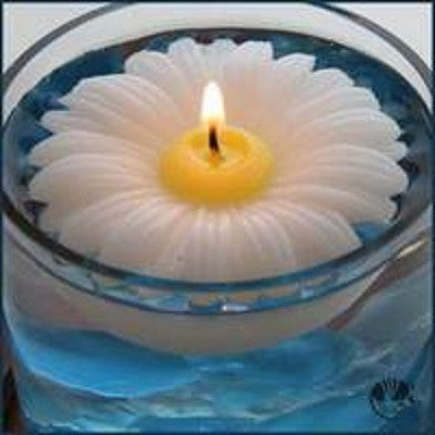 Daisy Floating Candle by Armadilla Wax Works