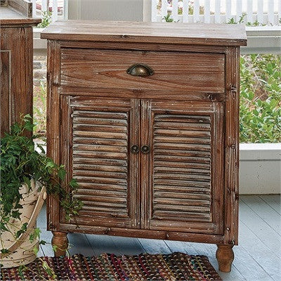 Distressed Shutter Side Table