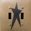 Primitive Star Double Switch Cover