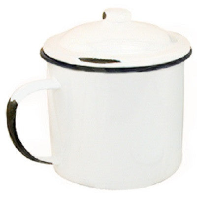 Enamelware Mug With Lid