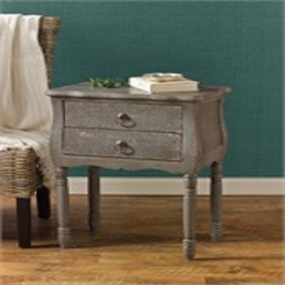 Aged Gray Accent Table