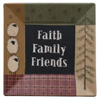 Faith Family & Friends Plate