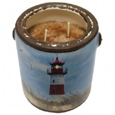 "A Cheerful Giver Sand ""N"" Surf ""Lighthouse"" Candle"