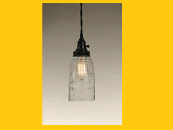 Half Gallon Open Bottom Mason Jar Pendant Lamp with Clear Glass