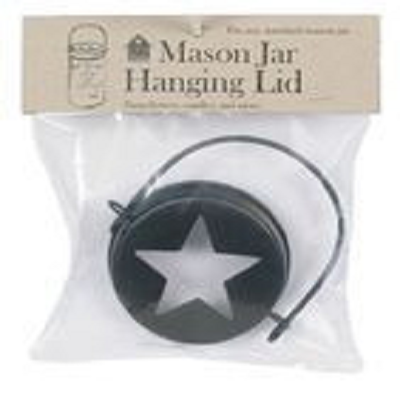 Mason Jar Hanging Lid with Star Cut Out