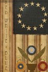 Homespun Americana Garden Flag
