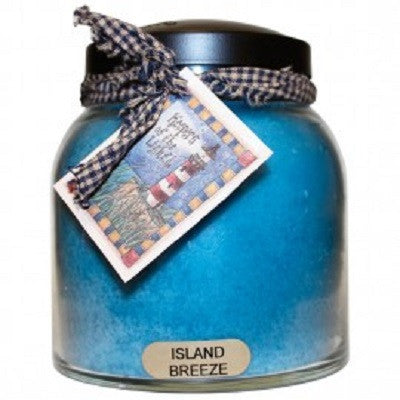 A Cheerful Giver Island Breeze 34oz Papa Jar Scented Candle