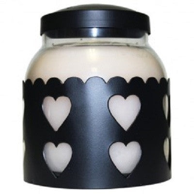 Black Heart Candle Sleeve