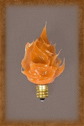 Large Silicone Campfire Bulb ~ Orange