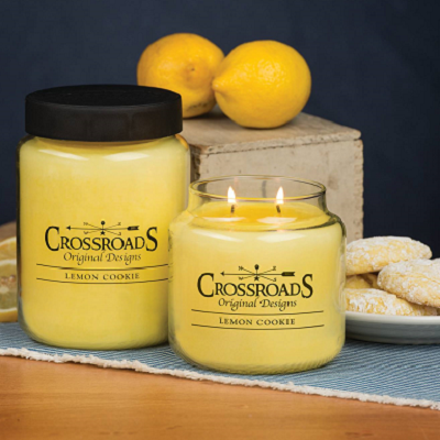 Crossroads Original Designs Lemon Cookie Scented Jar Candles