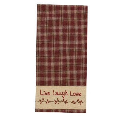 Sturbridge Live Laugh Love Dishtowel