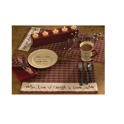 Sturbridge Live Laugh Love Placemat