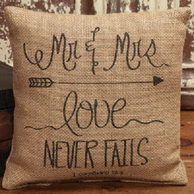 Love Never Fails Pillow