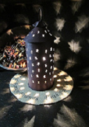 Punched Tin Star Cut Out Mini Tart Warmer