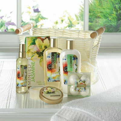 Minted Jasmine Spa Basket