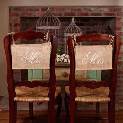 """Mr."" & ""Mrs."" Chair Banner Set"