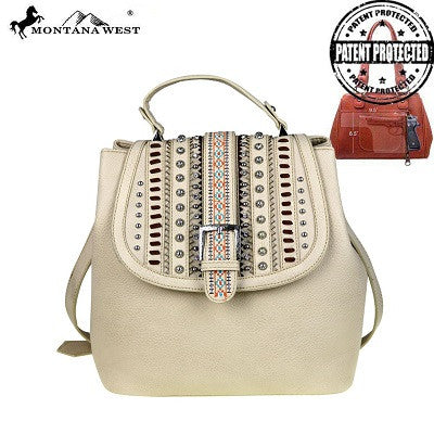 Montana West Belt Buckle Collection Concealed Handgun Satchel ~ Beige