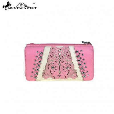 Montana West Cut-out Collection Wallet ~ Pink