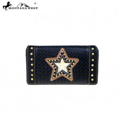 Montana West Lonestar Collection Secretary Style Wallet ~ C