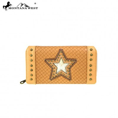 Montana West Lonestar Collection Secretary Style Wallet ~ T