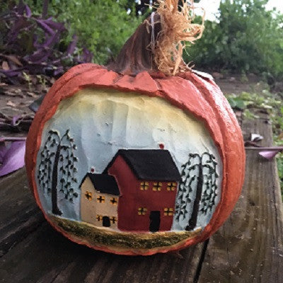 Painted Resin Pumpkin
