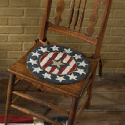 Patriotic Point Hooked Chair Pad