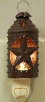 Rustic Star Lantern Night Light