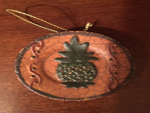 Pineapple Plate Ornament
