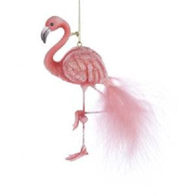 Kurt S. Adler Pink Glitter Flamingo Ornament