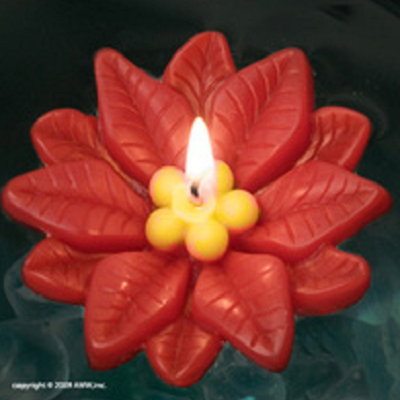 Pointsettia Floating Candle