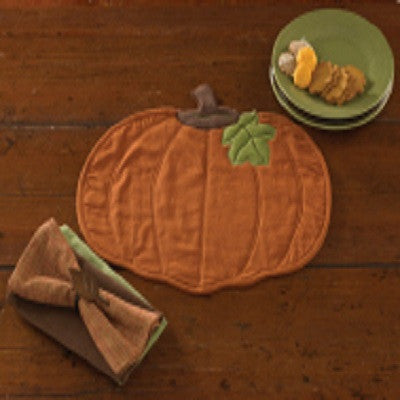 Pumpkin Quilted Placemat