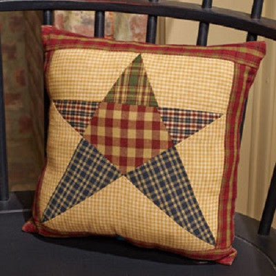 Rebecca's Star Patchwork 10 Inch Pillow
