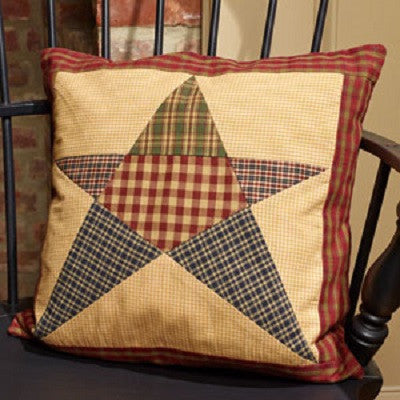 Rebecca's Star Patchwork 16 Inch Pillow