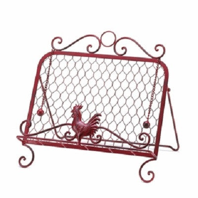 Red Rooster Wire Cookbook Stand