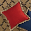 Jute Trim 18 Inch Pillow Cover ~ Red