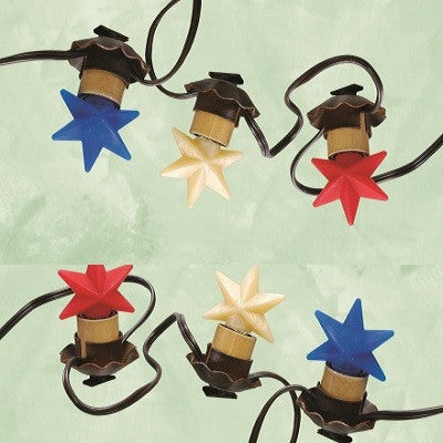 Vickie Jeans Creations ~ Red, Warm & Blue Star Bulbs