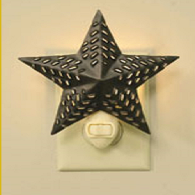 Punched Tin Star Night Light