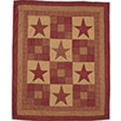 Rustic Star Throw