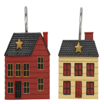 Saltbox House Resin Shower Curtain Hooks