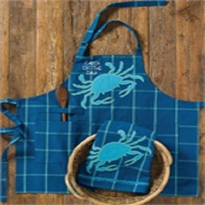 Salt Water Crab Applique Dishtowel