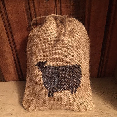 Scented Primitive Sheep Burlap Sack