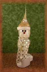 Sparkle Gold Snowman Night Light