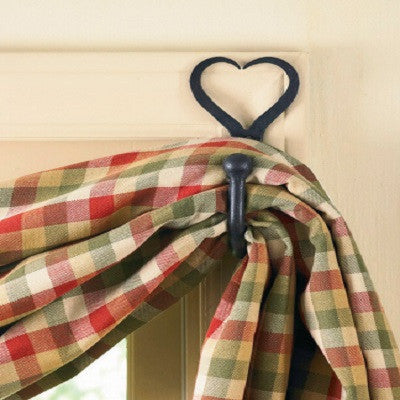 Split Heart Curtain Hooks ~ Pair