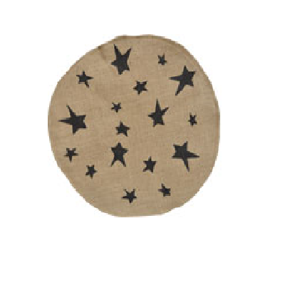 Star Burlap Table or Candle Mat