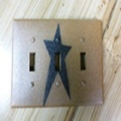 Primitive Triple Star Switch Plate Cover