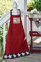 Star Spangled Cotton Applique Apron