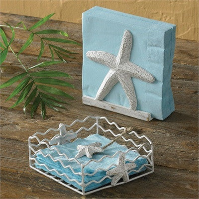 Starfish Beverage Napkin Holder