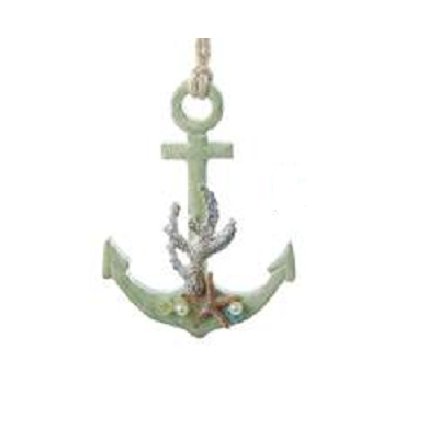 Anchor With Starfish Ornament