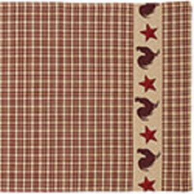 "Stars ""N"" Roosters Table Runner"