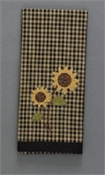Sunflower Check Decorative Dish Towel